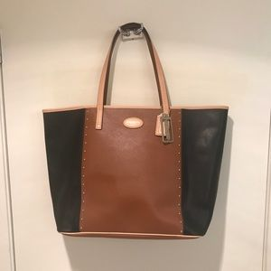 Coach Black and Chestnut tote